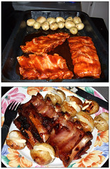 Spare Ribs & Potatoes (Chris Bloom) Tags: food dinner potatoes diptych meat pork ribs supper spare