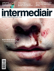 cover design magazine (jaap!) Tags: blue eye magazine nose design fight graphic cover bloody jaap biemans intermediair