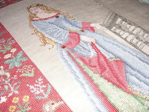 Crosss stitch on linen