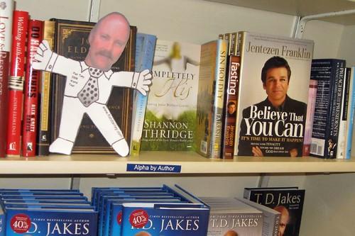 Flat Tony at Walden Books