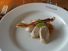 Pork Rillettes with Pancetta and Piccalilli at The Tower Restaurant, Edinburgh