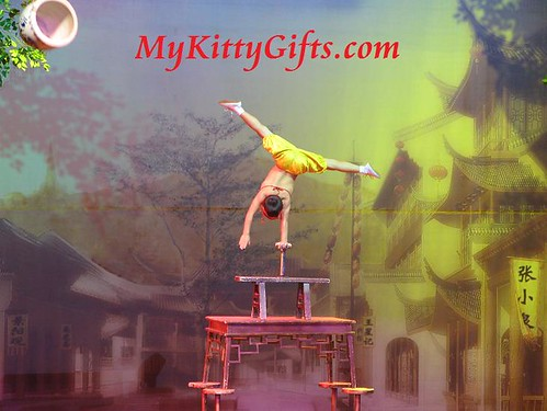 Hello Kitty's View of Young Acrobat Performance in HangZhou