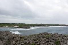 珊瑚でできた海岸が続く
