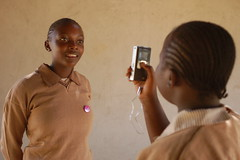 Kids doing interviews on the Flip camera in Kenya