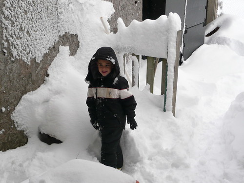 Aidan is my big snow boy!