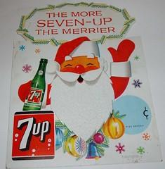 7Up Santa sign