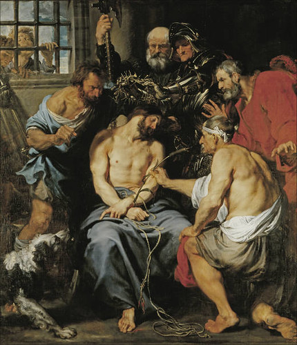 Anthony Van Dyck (Flemish, 1599-1641) Crowning Christ with Thorns (c. 1618-1620) Oil on canvas. 224 cm x 197 cm. Prado Museum, Madrid.