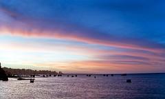 Beira Mar Sunset, Fortaleza (m-san_Ceará) Tags: blue sunset sky colors brasil digital mar twilight fuji hour fortaleza ceará s7000 beira mucuripe