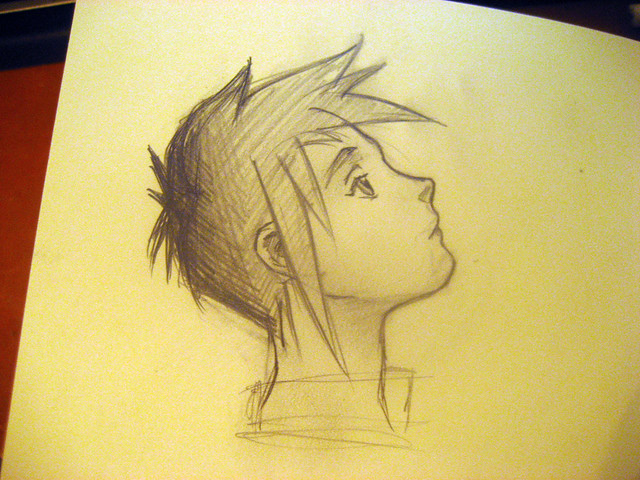 sketch anime boy. no idea what the anime is from, random google search,