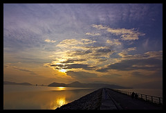 Sunrise (d-k-t) Tags: trip travel sea sky cloud clouds sunrise canon hongkong eos taipo taimeituk 450d img5080