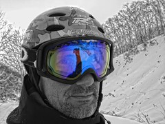 Backcountry (/\ltus) Tags: bw lumix hokkaido goggles powder panasonic snowboard backcountry oakley niseko crowbar trip1 annupuri nothdr dmcfx35 colorisolation200812
