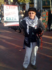 Pro Palestine protester in San Francisco
