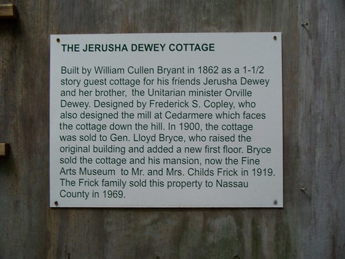Dewey Cottage Plaque