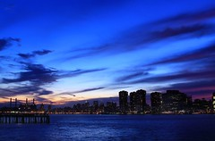 Her thoughts (Lazyousuf) Tags: new york city nyc sunset skyline canon landscape dusk canonef28135mmf3556isusm 50d explore29