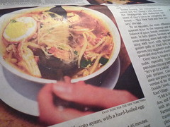 Minangasli's soto ayam, as featured in the New York Times