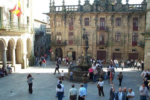 Plaza de las Platerias en Santiago de Compostela