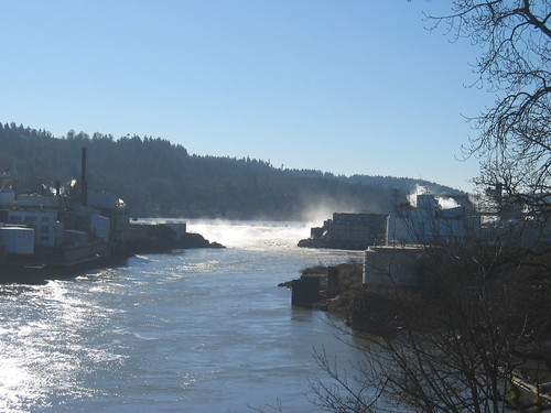 Willamette Falls, from the bridge