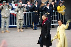President Obama and his wife, Michelle (meryddian) Tags: washingtondc washington capital inauguration inaugurationday barackobama dcwashingtondc election08 presidentobama obamainauguration dcinauguration09 quotinauguration09quot quotobamainaugurationquot quotelection08quot quotpresidentobamaquot