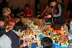 Little Lego Architects (Randy Son Of Robert) Tags: california building children losangeles creative legos architects museumofnaturalhistory
