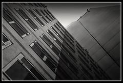 Steel, concrete and glass (Joel Tjintjelaar) Tags: holland glass concrete utrecht steel bwgallery citrit ysplix newacademy artinbw tjintjelaar