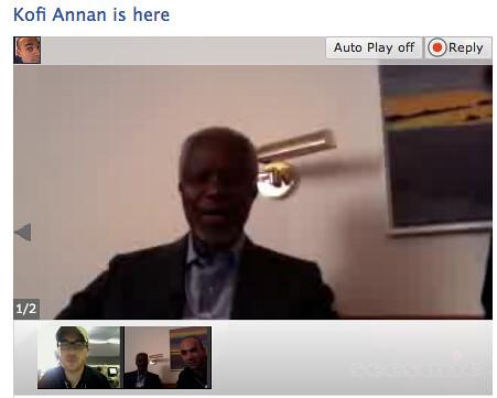 Kofi Annan on Seesmic