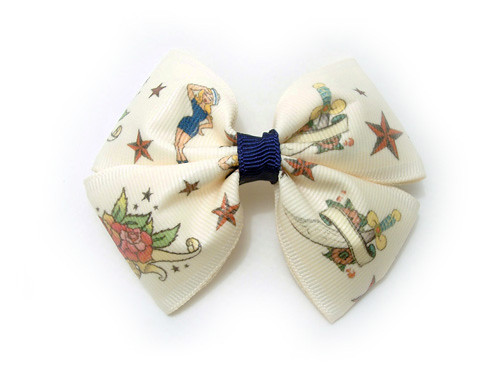 Vintage Tattoo Print Bow. These and many other great items can be found at
