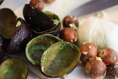 avocado shells and seeds
