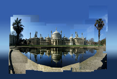 Prince Regent Royal Pavilion (Dominic's pics) Tags: camera trees shadow lake reflection scale lines vertical architecture john george pond holding hands iron brighton king fuji minaret indian perspective royal 4th prince palm architectural architect illusion cast dome finepix frame classical fujifilm pavilion nash ornamental parallel regent iv indo regents indosaracenic a500 saracenic illusionofscale