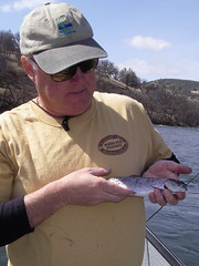 John with Hatchery Half Pounder