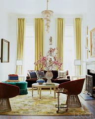 Nanette Lepore's living room, featured in Elle Decor (xJavierx) Tags: newyork yellow modern design manhattan interior decorating decor knoll interiordesign eclectic elledecor fashiondesigner jonathanadler ankasa interiordesigner platner