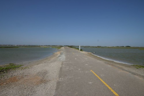 Bike path north of Corpus Christi, Texas.