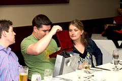 Jon Opening his Groomsman Gift