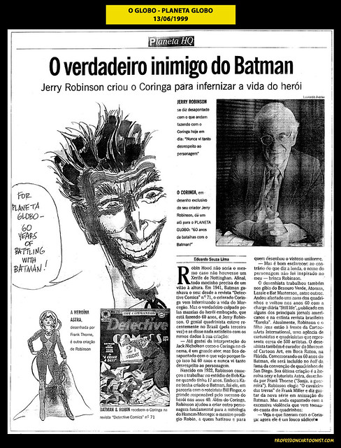 """O verdadeiro inimigo do Batman"" - O Globo - 13/06/1999"
