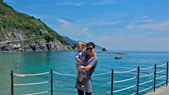 Monterosso Bay (AroundtheWorldwithKid) Tags: italy beach coast europe raw australia queensland coastline cinqueterre rtw italianriviera noosaheads oceania ruggedcoast travelwithchildren travelwithkid australiaeasterncoast