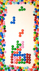 tetris (AlfreDominguez) Tags: color colors atari mm tetris flavors colorido sabores chocolatebeans lunetas