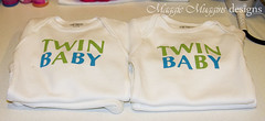 Twin A & B (Maggie Muggins Designs) Tags: baby shirt outfit twins paste twin copy onesie twina twinb twinboys twinbaby