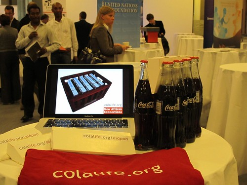 The ColaLife Display at the New African Connections Conference | Oslo | 21-22 June 2011