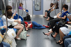 Late One Night (amirjina) Tags: japan drunk last train weird floor sleep amir collapse  vis unconscious jina tokaido numazu      amirjina