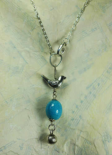 bird and egg necklace