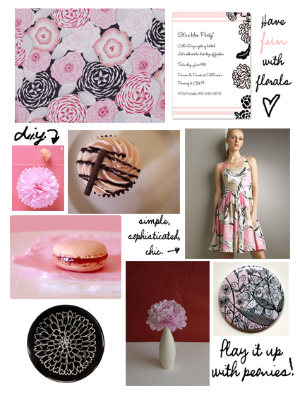 Wedding Wednesday: Black and Pink Bridal shower