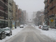 Main Street in Over-the-Rhine (bousinka) Tags: ohio snow storm fall cincinnati otr oh overtherhine