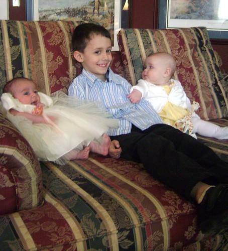 Sophie Holding Nicholas Up