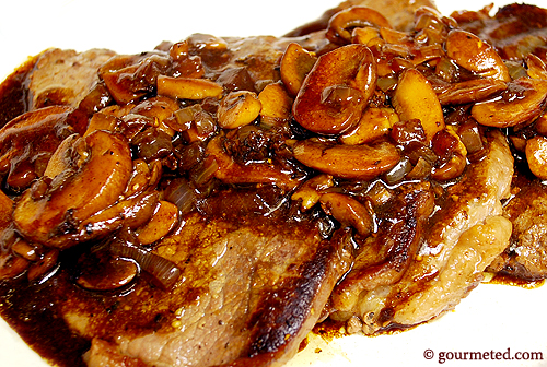 Steaks with Mushroom Madeira auce