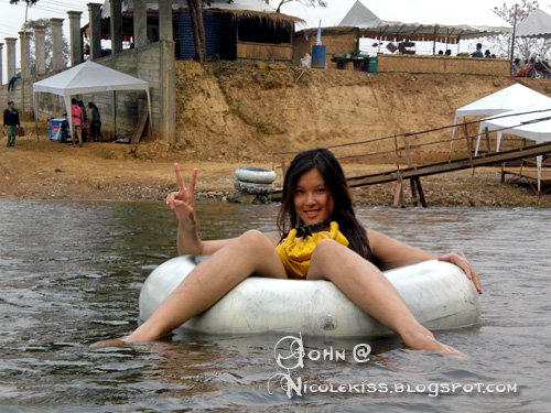 me tubing on the river