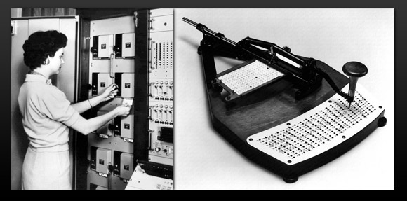 the history of computer data storage in pictures pingdom royal punch card reader and punch card writer