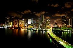 Night Skyline of Miami's Brickell Avenue (Ricardo Carreon) Tags: city urban usa topf25 topv2222 skyline night buildings lights topf50 topv555 nightshot miami perfil topv1111 topv999 topv777 fl topv4444 brickell topv888 challengeyouwinner diamondclassphotographer