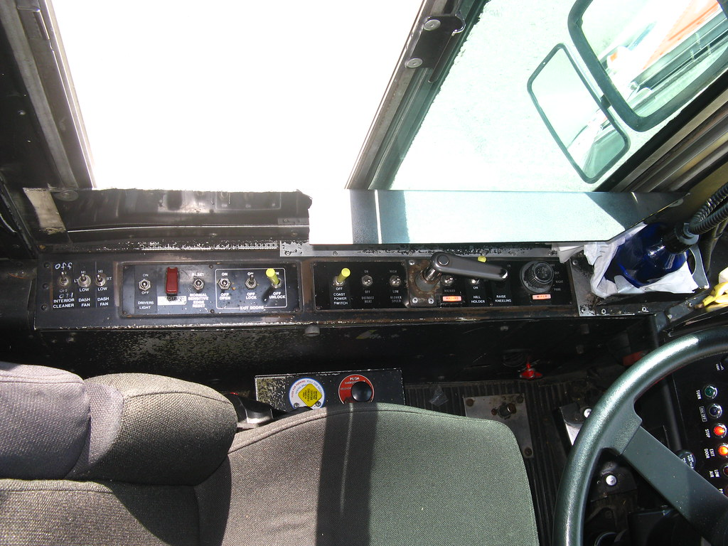Driver's controls on 2805