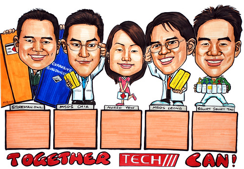 Caricatures group poster Tech part 2