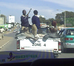 Show offs on the street of Lusaka