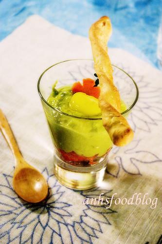 Avocado Smoothie with Tomato Salsa